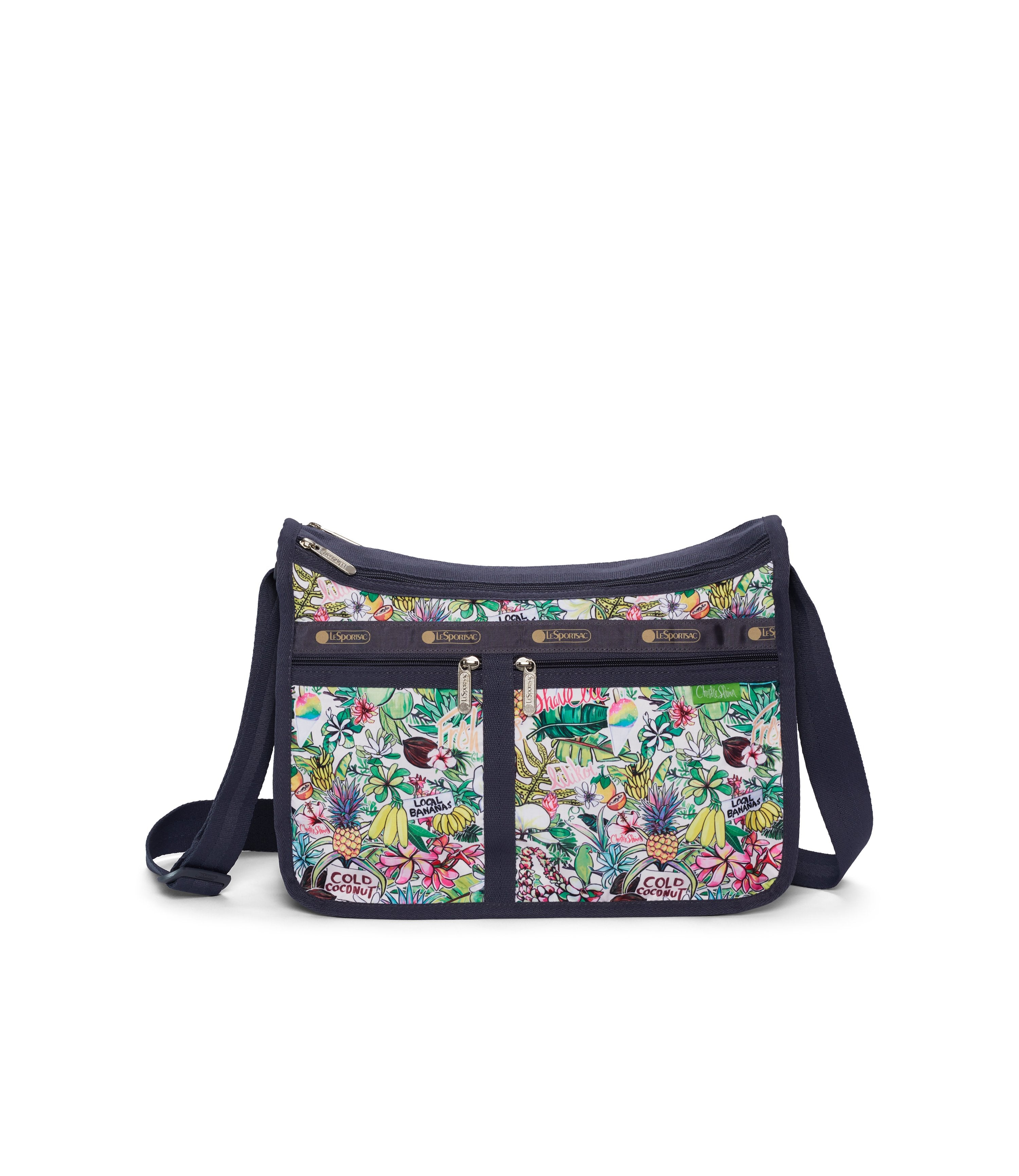 LeSportsac - Deluxe Everyday Bag - Handbags - Hawaii - Exclusive! Aloha Market print - Front View