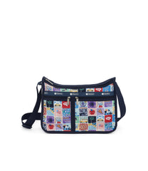 Deluxe Everyday Bag, Nylon Handbags and Classic Purses, Expandable, Crossbody, Exclusive, NY to LA print