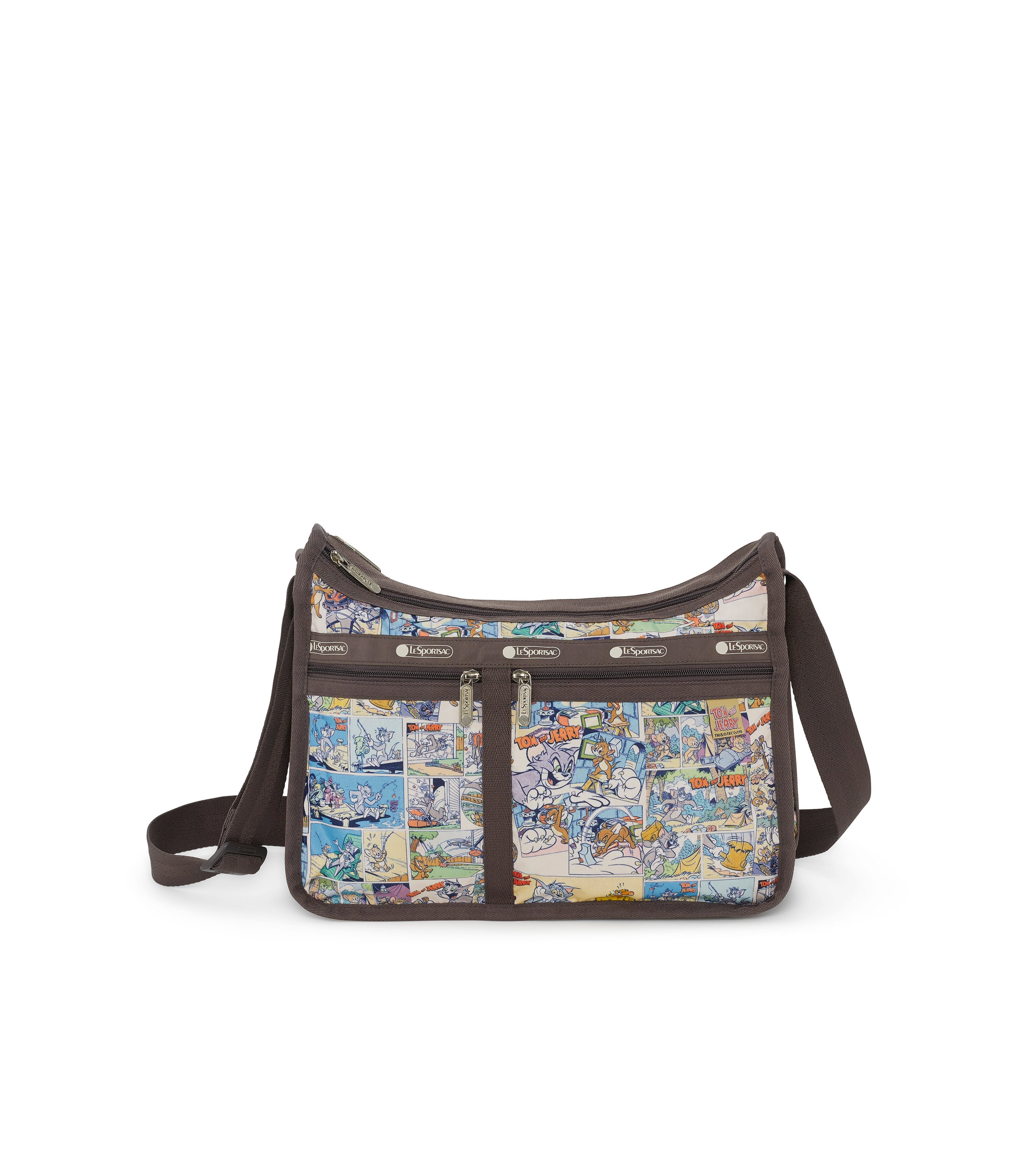 Deluxe Everyday Bag, Nylon Handbags and Classic Purses, cartoon, Crossbody, Tom and Jerry print, Sale