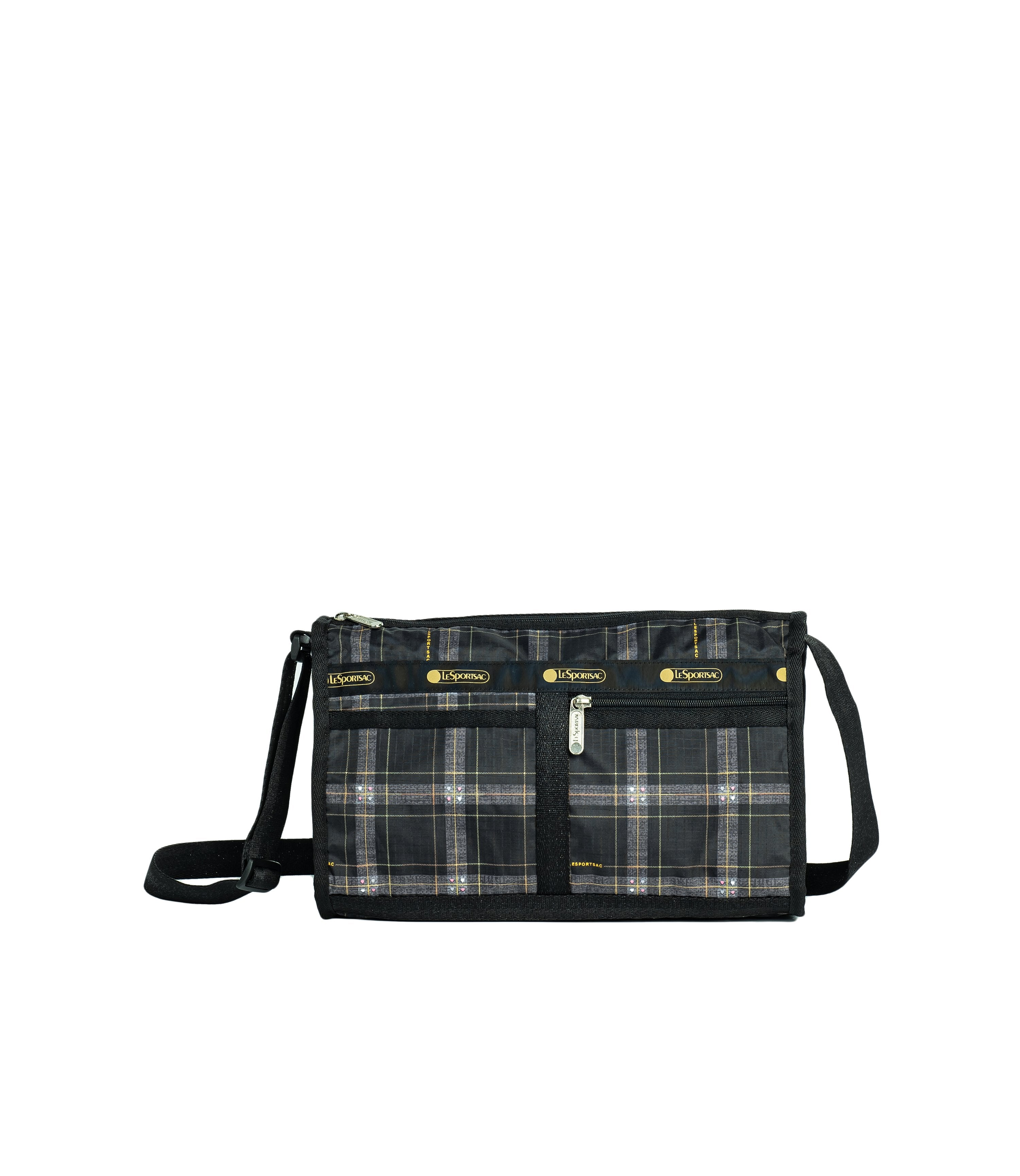 LeSportsac - Handbags - Deluxe Shoulder Satchel - Sweet Plaid Noir print