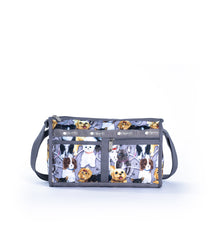 LeSportsac - Deluxe Shoulder Satchel - Handbags - Puppy Park print
