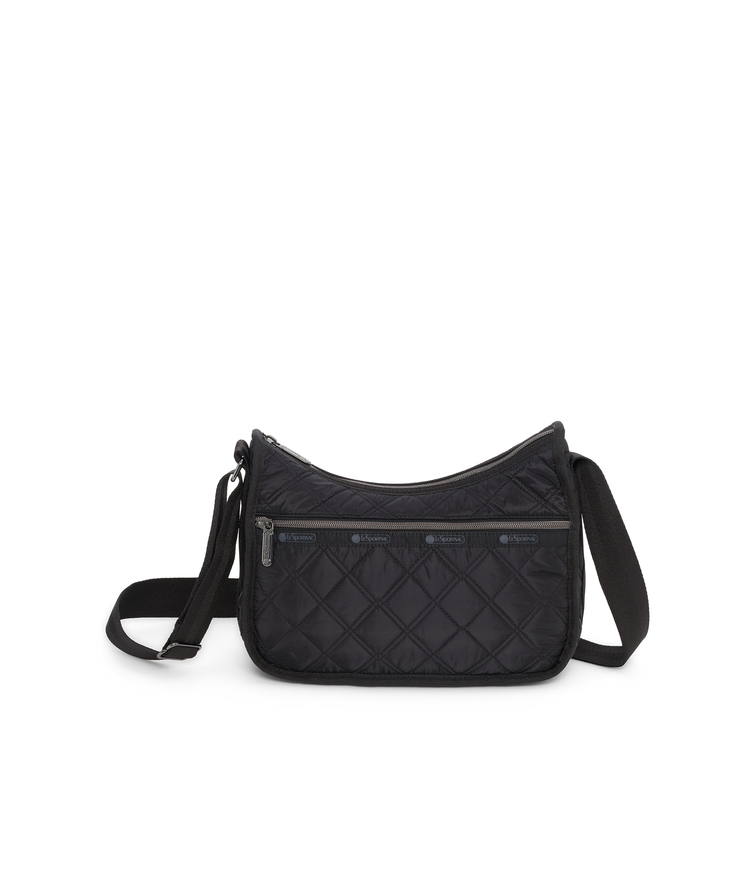 Classic Hobo, Nylon Handbags and Classic Purses, LeSportsac, Matelasse Black Quilted