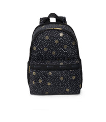 Basic Backpacks, Water Resistant Backpack, LeSportsac, Black Sand print