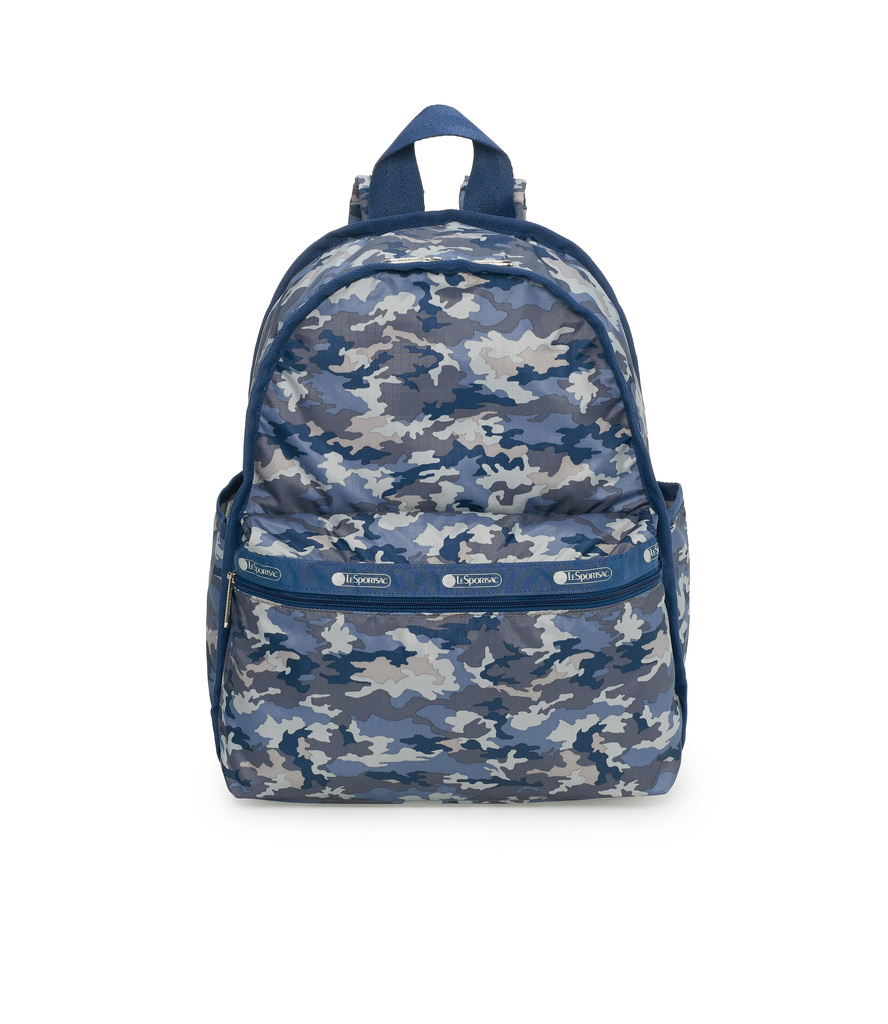 Basic Backpacks, Water Resistant Backpack, LeSportsac, Camo Blues print