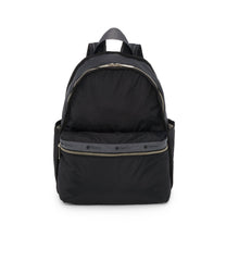 Basic Backpack, Water Resistant Backpacks, LeSportsac, Heritage Noir