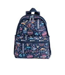 LeSportsac - Backpacks - Basic Backpack - Neon Nights print