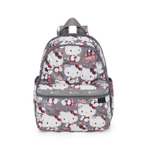 Hello Kitty Bookbag, LeSportsac Basic Backpack, Hello Kitty, Exclusive, Gray print