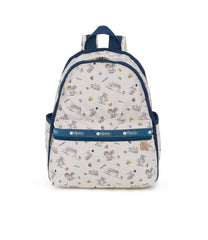 Basic Backpacks, Water Resistant Backpack, white, tom and jerry print, sale