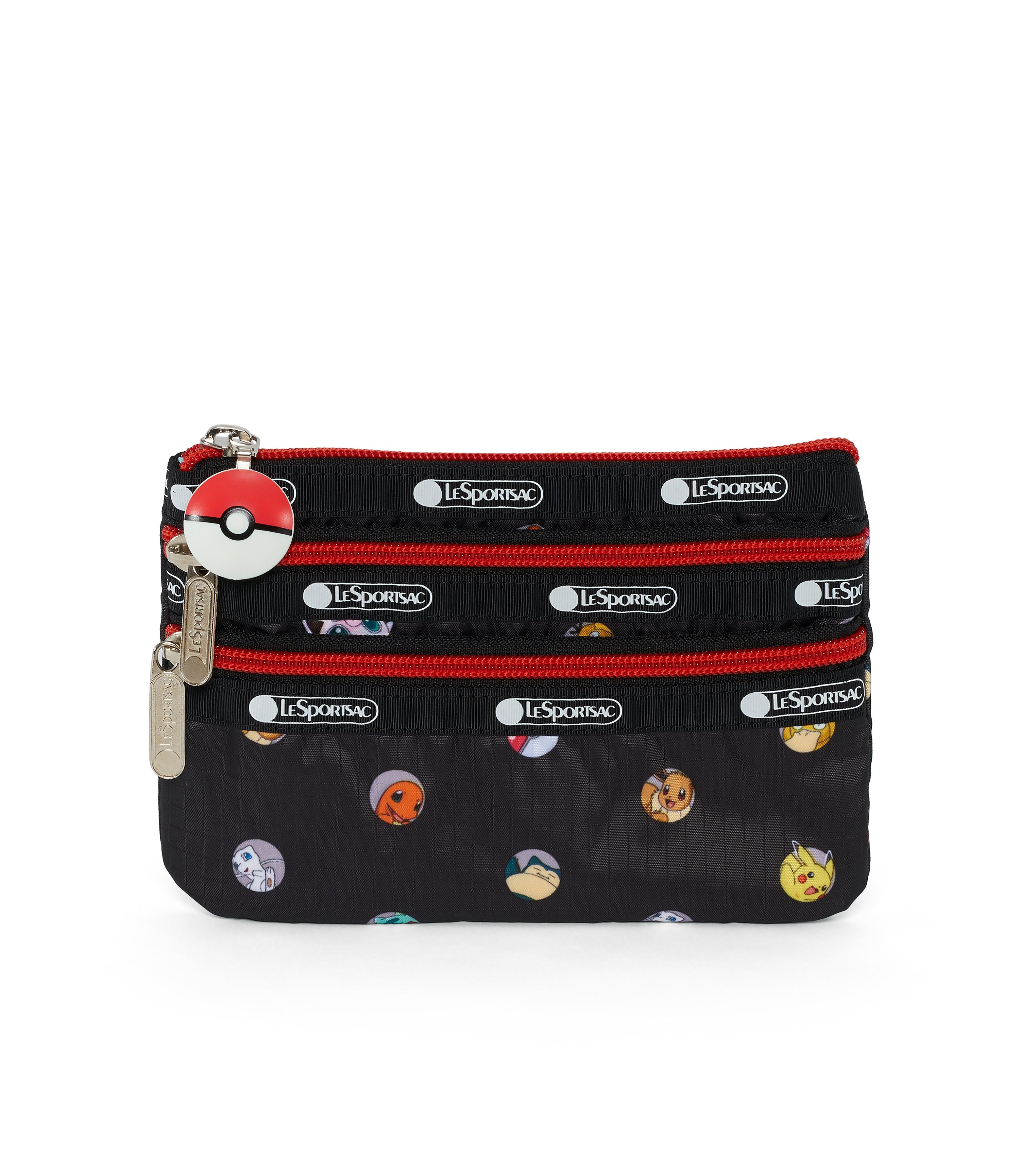Pokémon Special 3-Zip Cosmetic-LeSportsac-small-PokéBall-Pouch-front