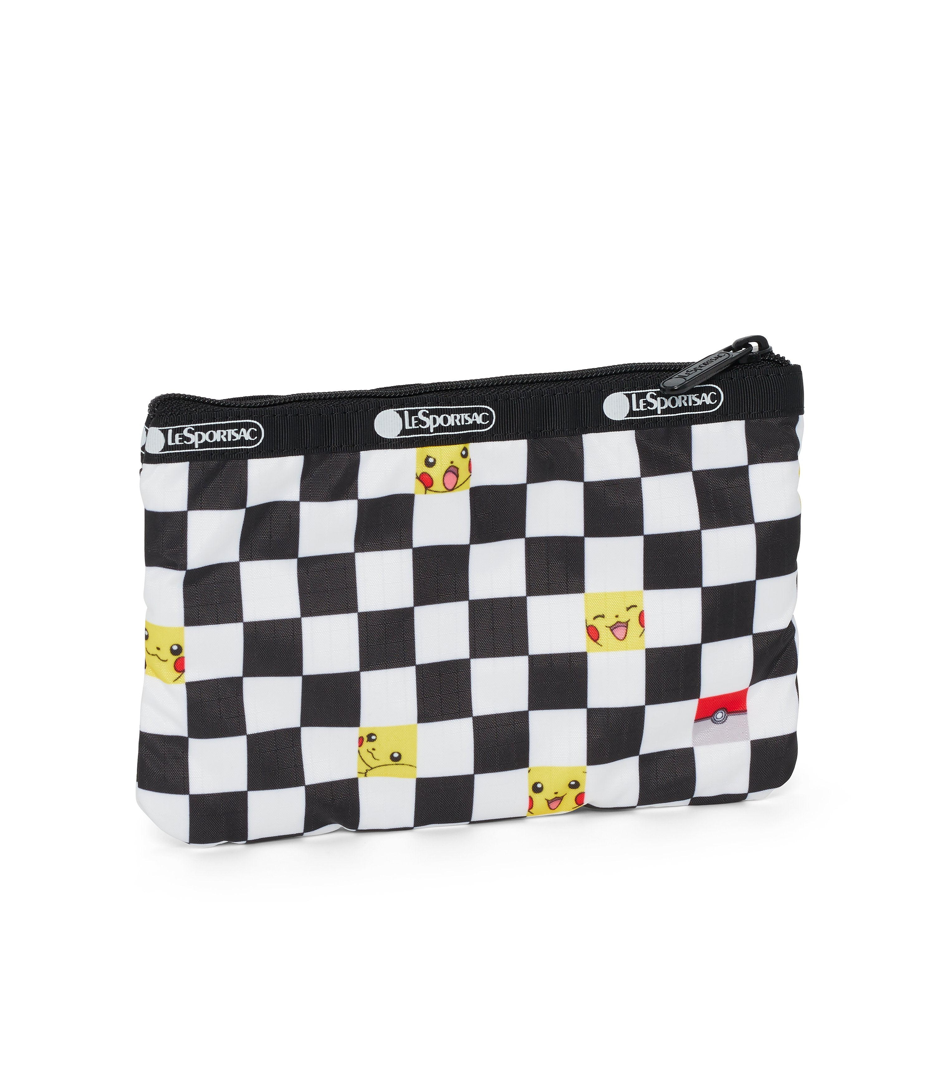 Pokémon - Special 3-Zip Cosmetic - Accessories - Pikachu Check - Back View