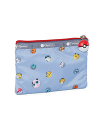 Pokémon 3-Zip Cosmetic-LeSportsac-Small-PokéBall-Blue-pouch-back