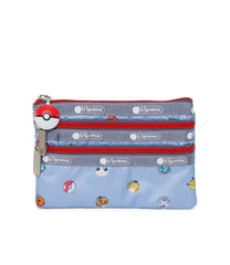 Pokemon - Special 3-Zip Cosmetic - Accessories - Pokémon Dot Lite - Front View
