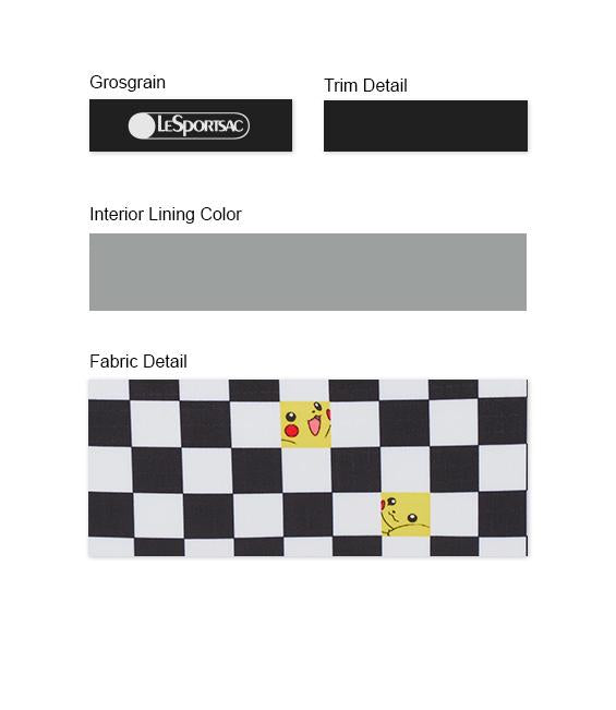 Pokémon - XL Rectangular Cosmetic - Accessories - Pikachu Check - Trim Details