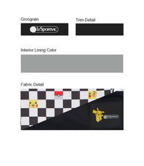 Pokemon - Deluxe Medium Weekender - Weekenders - Pikachu Check Pocket - Checkered-Pouch - Trim Details