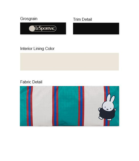 Dick Bruna - LeSportsac Cosmetic Clutch - Accessory - Green Stripe Miffy -  Trim Details