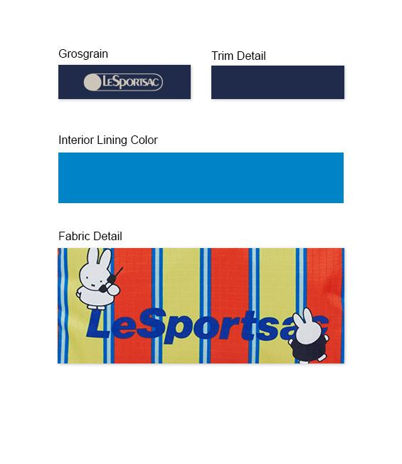 Dick Bruna - LeSportsac XL Rectangular Cosmetic - Accessory - Sunny Stripe Miffy - Trim Details