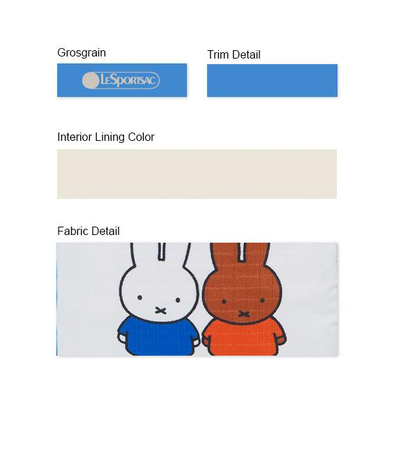 Dick Bruna - LeSportsac Book Pouch - Accessory - Miffy and Melanie - Trim Details