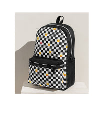 Pokemon - Carson Backpack - Backpacks - Pikachu Check Pocket - Checkered Side