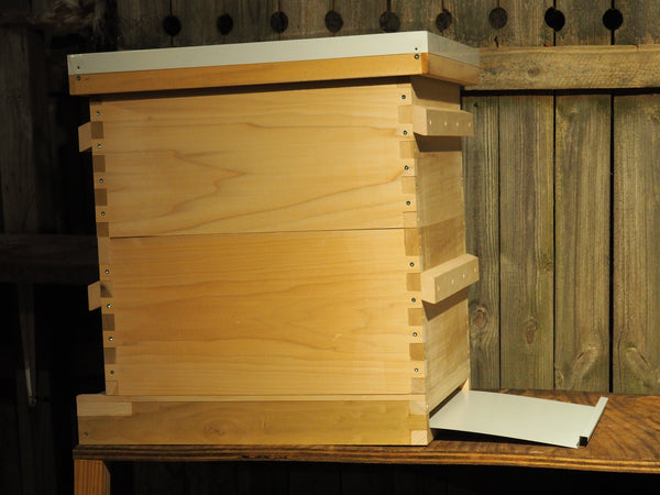 10 Frame Deluxe Hive Complete - with Screen Bottom Board