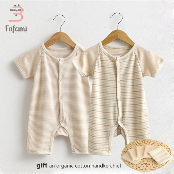 21e53c98dcf 2 pcs lot Rompers Baby Clothes for Newborn Organic Tiny Cottons Baby  Costume Lucky Child ...