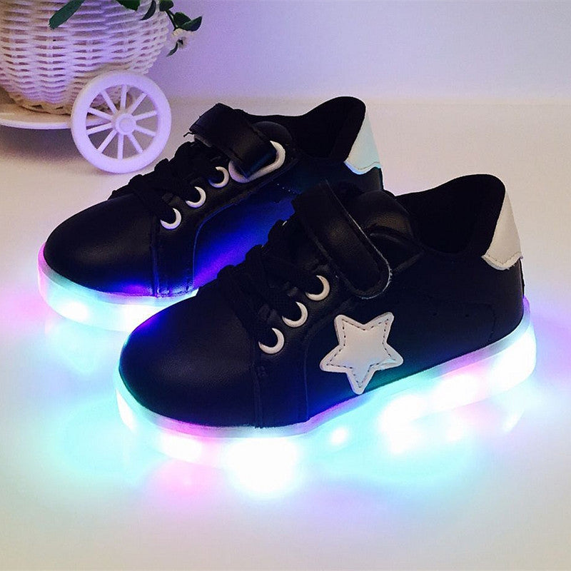 b4abe9c9c72b9 2017 nmd children s shine LED shoes boys girls fashion glowing sneakers  kids light sports tenis infantil