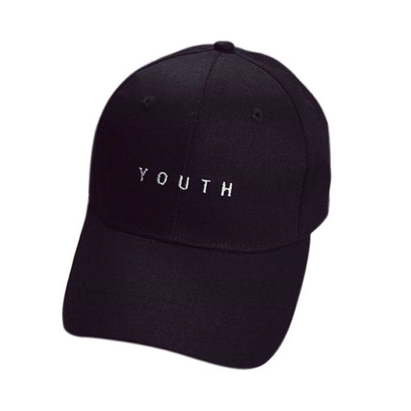 d706832a 2018 Baseball Caps Youth Letter Men Woman Adjustable Caps Casual Hats Solid Colors  Black White Fashion