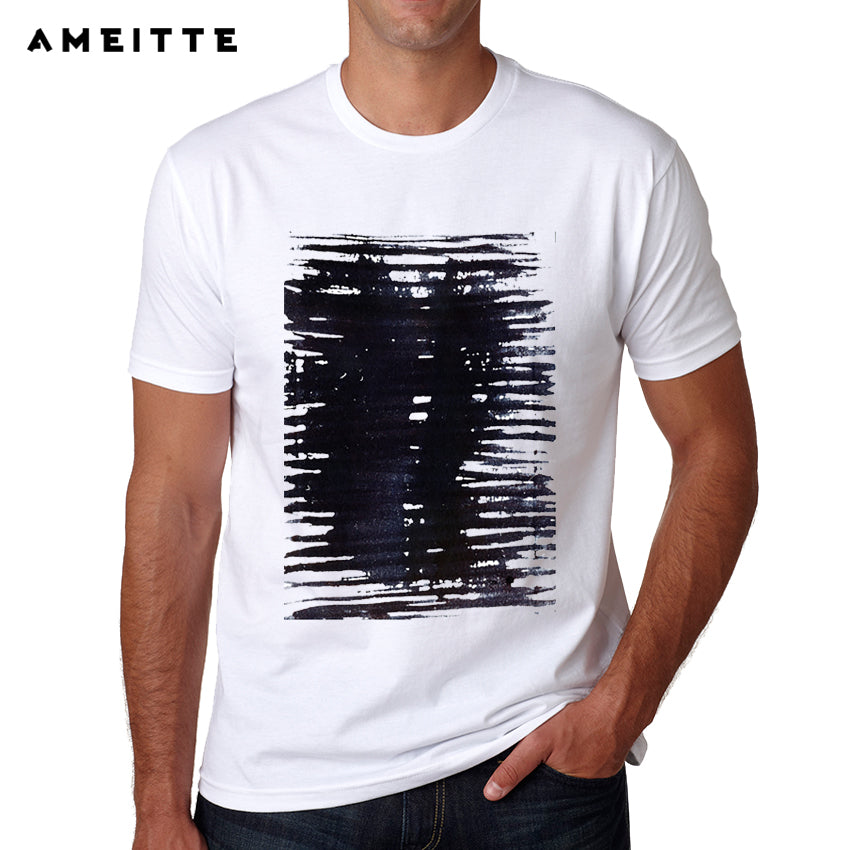987a782c23a 2018 New Arrivals Abstract line Design T-Shirt Men s Summer Casual  Streetwear Male Printed Tee