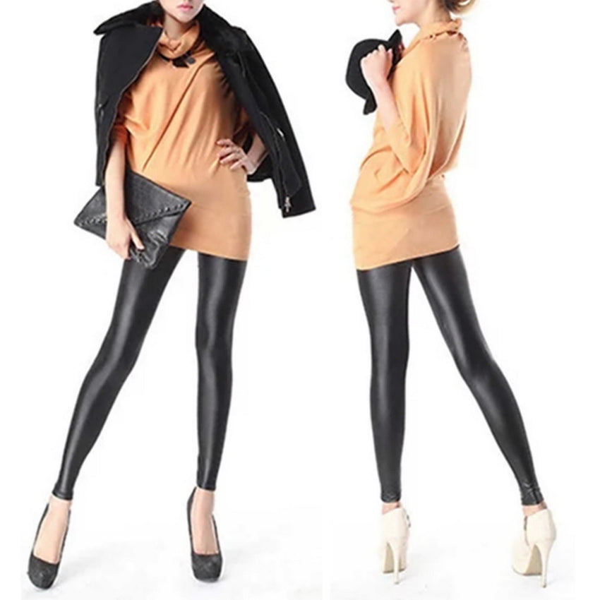 8a6aa76594253 2018 Spring New 1pc Women Girl's Sexy Black Faux PU Leather Leggings Hot  Selling Women Skinny