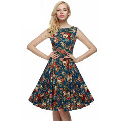 73bb102c835 ACEVOG Women Dress Retro Vintage 1950s 60s Rockabilly Floral Swing Summer  Dresses Elegant Bow-knot