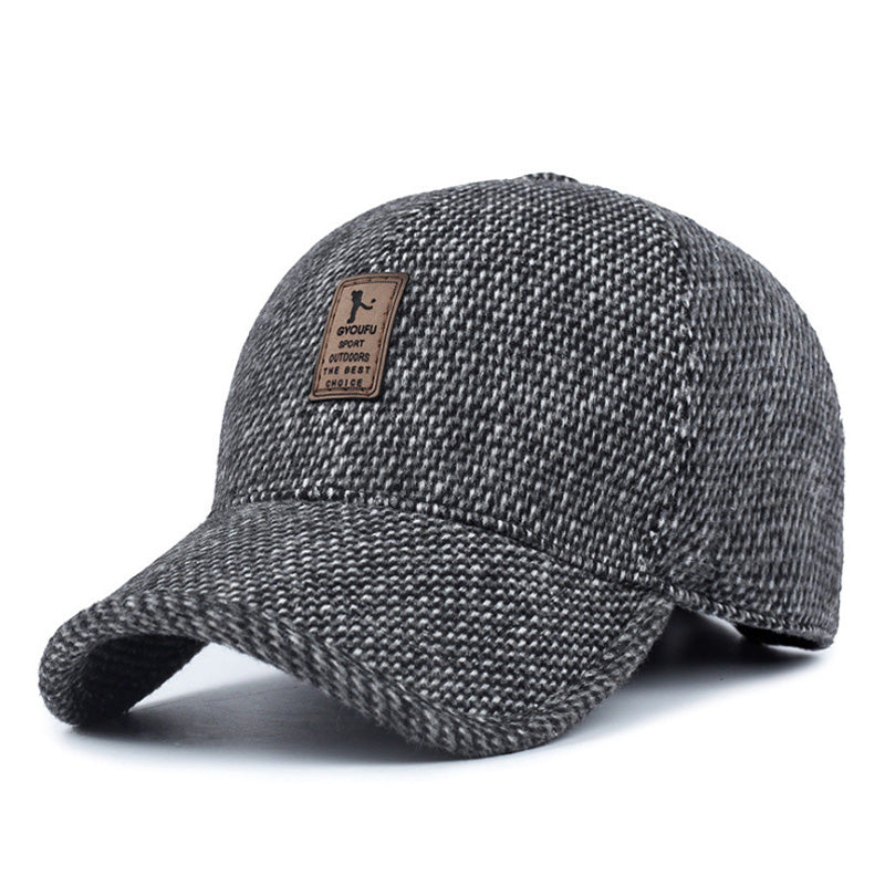 AETRENDS  Woolen Knitted Design Winter Baseball Cap Men Thicken Warm Hats  with Earflaps Z 2481c8ceb5cd