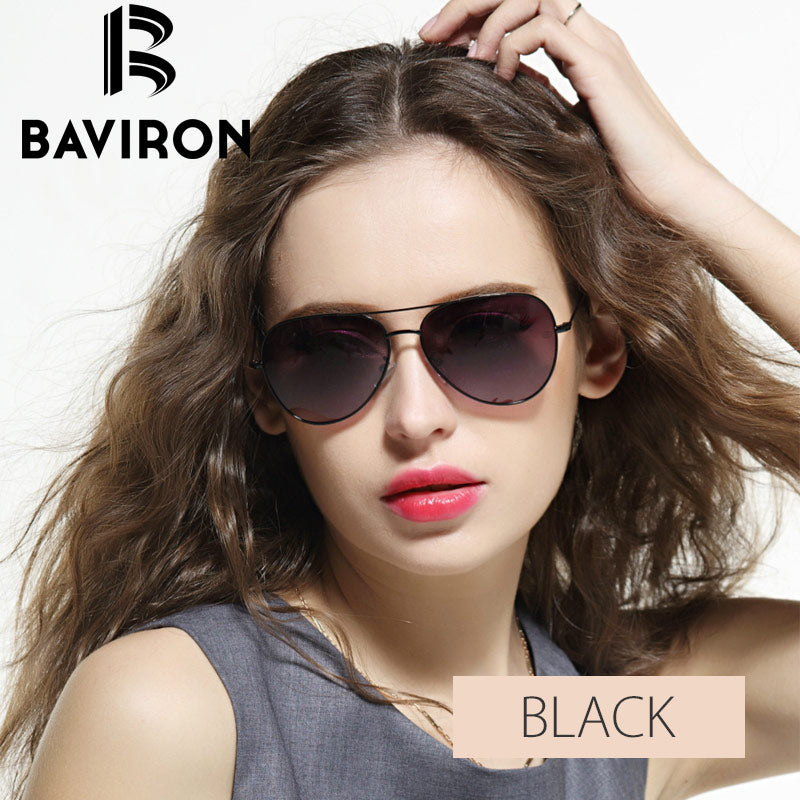 bb8067322c BAVIRON Ultrathin Legs Aviator Sunglasses Women Brand Designer Glasses Men  Driving Mirror Eyewear Unisex Pilot Sun