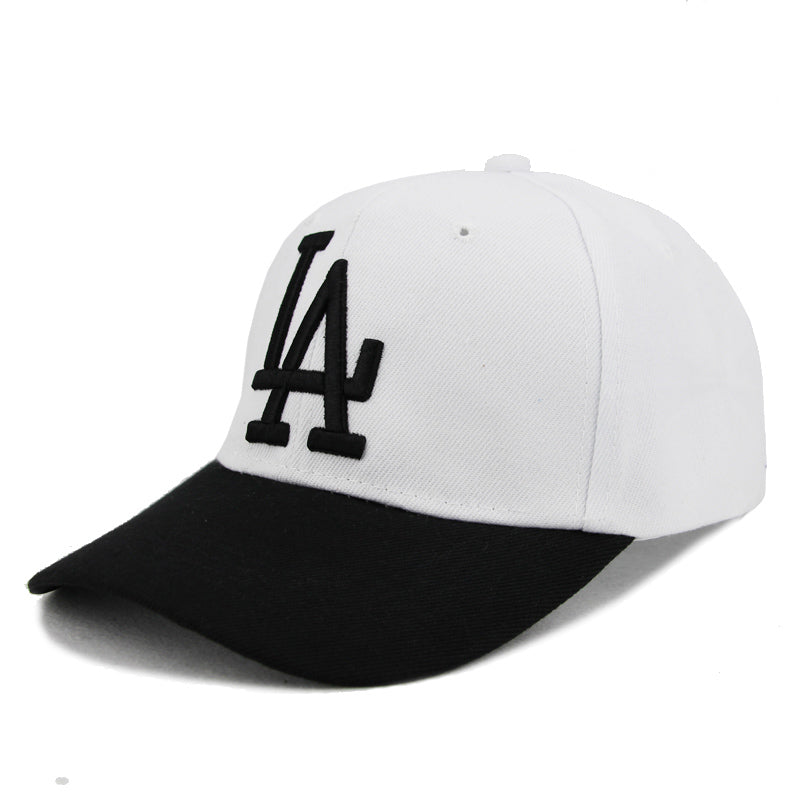 0df1cf2fdc6 Baseball Full Caps Men Women Snapback LA Cap Gorras Lace Hat Female Male  Bone Cap Black