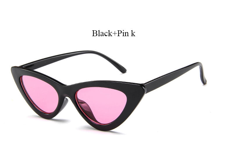 c89b241b55 Brand Designer Lady UV400 Cat Eye Sun Glasses Super Star Point Vintage  Sunglasses Clear Retro Hot