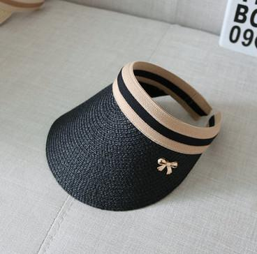 COKK Cute Bow Sun Hat Female Beach Hat Wide Brim Straw Visor Hat Cap Summer  Hats 72a9b26d6054