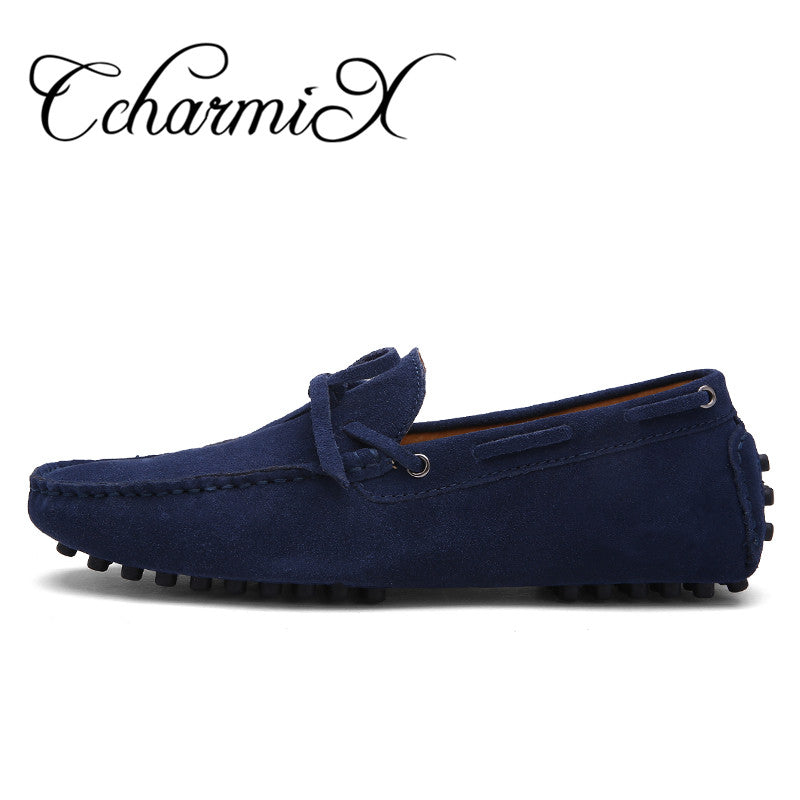 CcharmiX Brand Spring Men Driving Shoe Real Suede Leather Boat Shoes  Breathable Male Casual Flats Slip 4b8671259cd