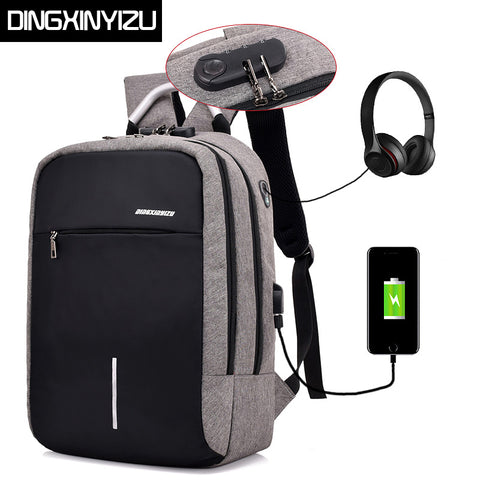 4f3229b4a2b DINGXINYIZU USB Charge Anti-Theft Laptop Men Backpacks Waterproof Women  School Bags Travel Daypack Unisex