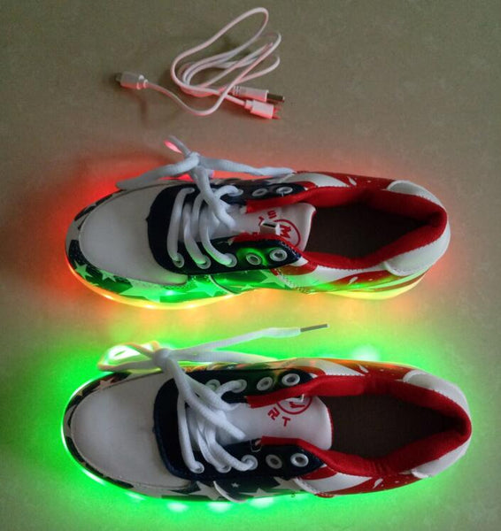 96f8da090ac05 Fashion Child USB Charge kids Led shoes adult man women LED Luminous shoes  Casual Boys Girls high quality Sneakers Glowing Shoes. Rs. 1