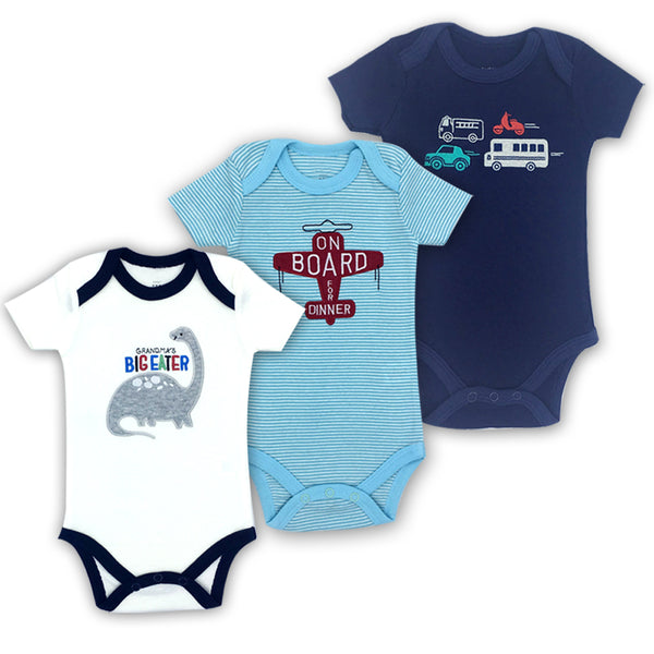 d40d5cad3abbc Free Shipping 3PCS 100%Cotton Infant Body Short Sleeve Clothing Similar  Jumpsuit Printed Baby Boy ...