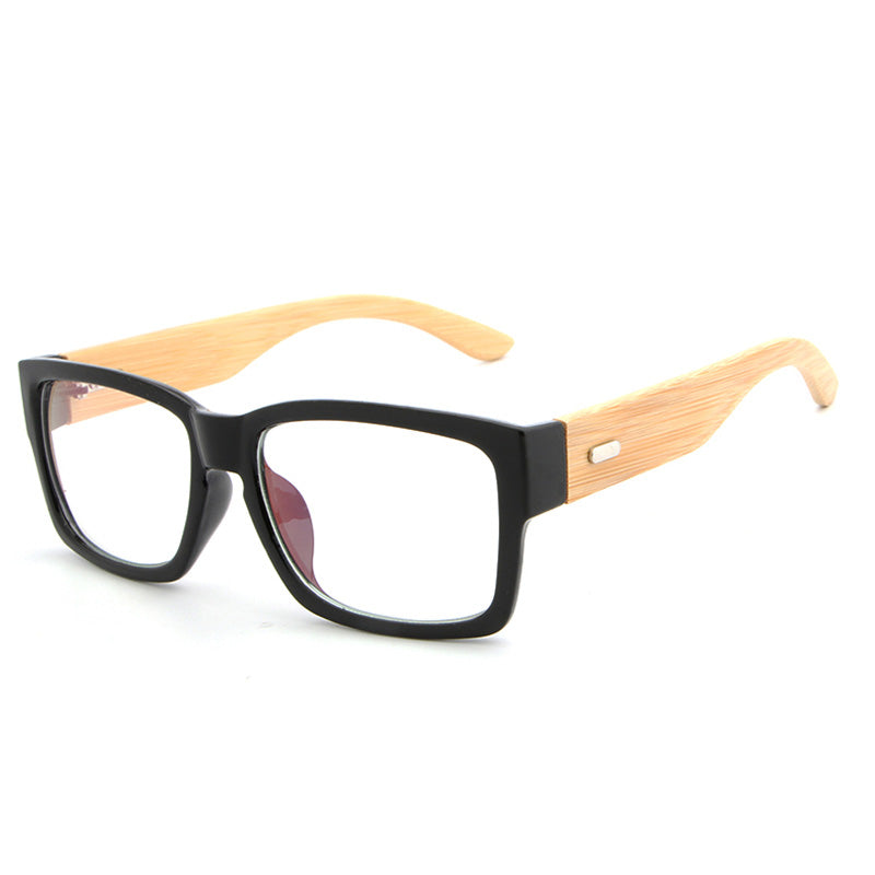 5ab93085041c1 HDCRAFTER Rectangle Wooden Eyeglasses Frames Men Bamboo Glasses Frame  Glasses Spectacles Reading Optical Glasses Frame