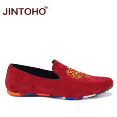 0f1d04c4af3 JINTOHO fashion suede men shoes soft leather flat shoes casual slip on  moccasins men loafers hight