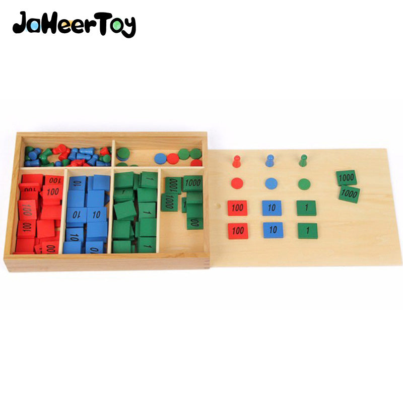 JaheeToy Montessori Educational Childrens Toys For Kids Stamp Game Math Digital Cognition Color Classification Funny Gifts