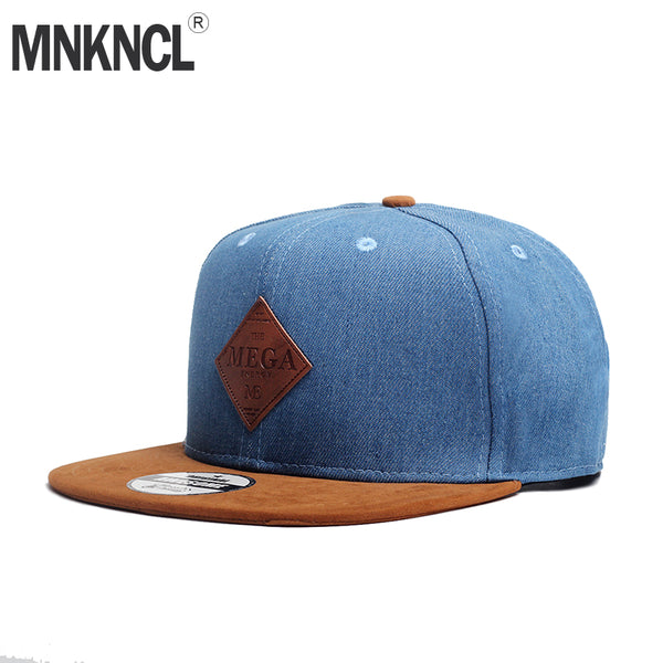23736a319f1 MNKNCL High Quality Snapback Cap MEGA Embroidery Brand Flat Brim Baseball  Cap Youth Hip Hop Cap ...
