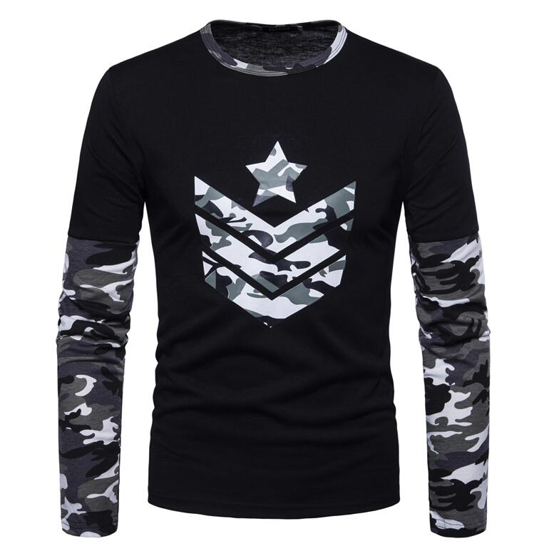 Men s Long T-Shirts 2018 Male Brand Army Combat Tactical T Shirt Military  Men Camouflage 3f6c451cee6b
