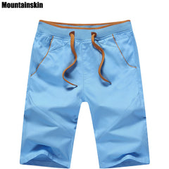 dc1d41a88e Mountainskin 5XL New Summer Men's Cotton Shorts Mid Straight Thin Men's  Beach Shorts Casual Solid Soft ...
