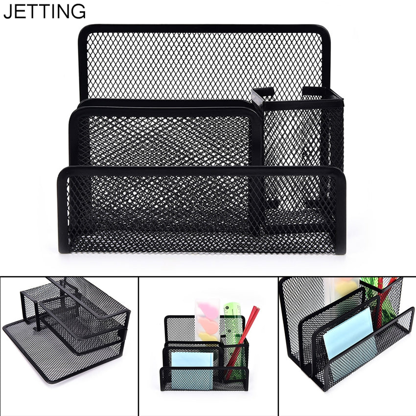 Pen Holders Nice Desk Mesh Pen Pencil Holder Office Supplies Multifunctional Digital Led Pens Storage