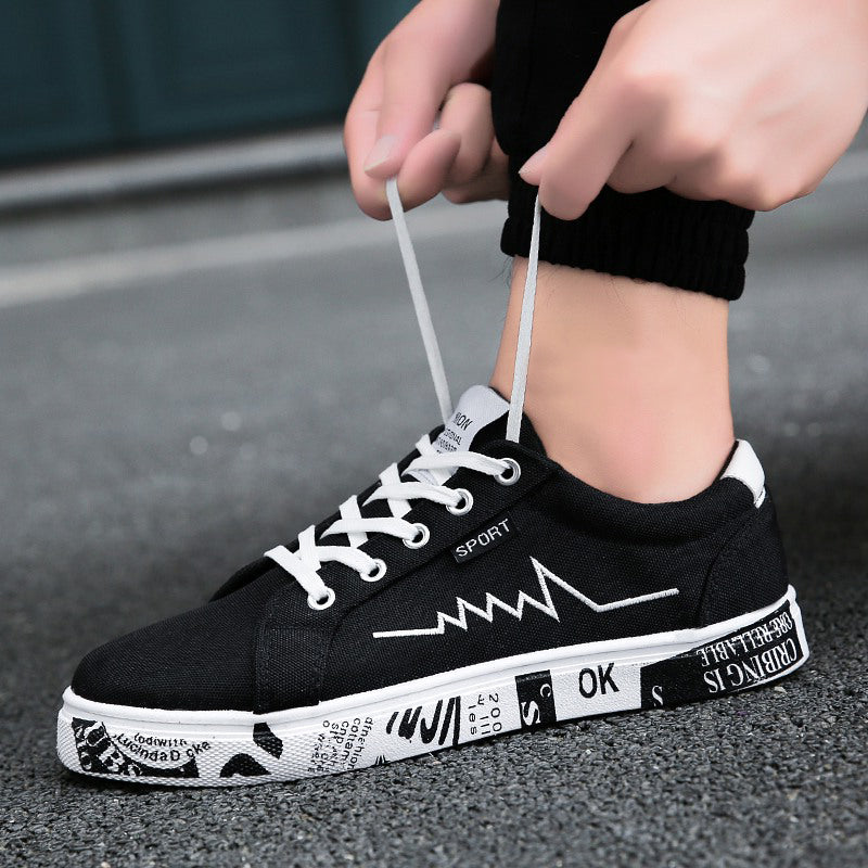 ae07afdfa455 New 2018 Spring Summer Canvas Shoes Men Sneakers Low top Black Shoes Men s  Casual Shoes Male
