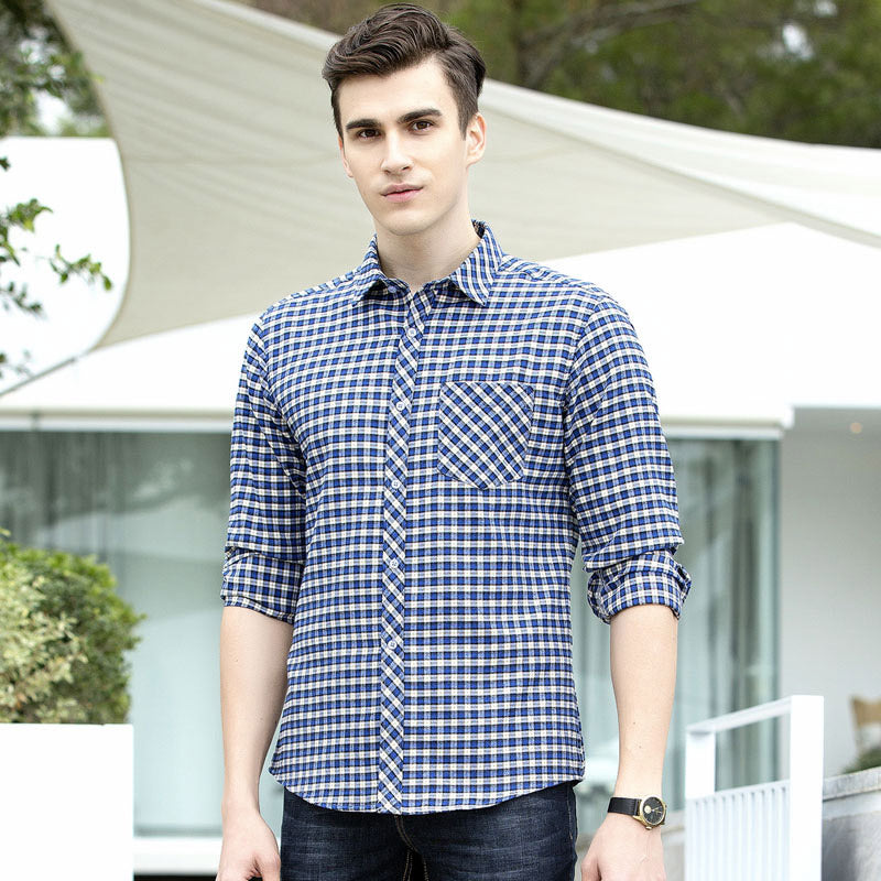 New Spring Fashion Men Shirts Brand Men Smart Casual Clothes Slim