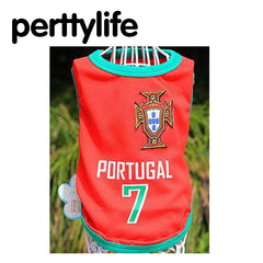 PERTTYLIFE New Fashion Summer Cute Dog Pet Vest Puppy T Shirt World Cup  Football doggy cloth 889e9aa5d