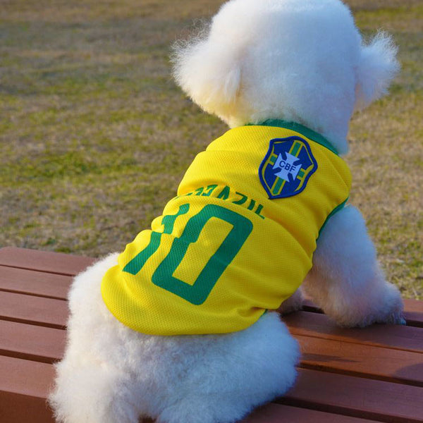 PERTTYLIFE New Fashion Summer Cute Dog Pet Vest Puppy T Shirt World Cup  Football doggy cloth clothing Sportswear soccer CLT2. Rs. 376.00. Rs. 611.00 8907d7af1
