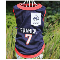 cfe0b2886a9 ... PERTTYLIFE New Fashion Summer Cute Dog Pet Vest Puppy T Shirt World Cup  Football doggy cloth ...